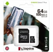 Micro SDHC 64GB Kingston Canvas (Classe 10)