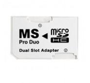 Adaptador Duplo de Micro-SD para Memory stick pro duo