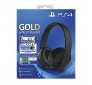 Headset Wireless Gold Sony + Voucher Fortnite PS4