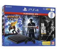 Consola Sony PS4 1TB+Ratchet & Clank+Uncharted 4+The Last of Us