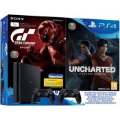 Consola Sony PS4 1TB + 2 DS4+Uncharted+GT