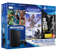 Consola Sony PS4 Slim 1 TB + Uncharted + Horizon + Last Of Us