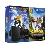 Consola Sony PS4 Slim 1 TB + Crash + Ratchet