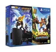 Consola Sony PS4 Slim 1 TB + Crash + Ratchet